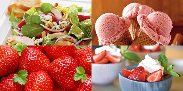 page strawberry recipes