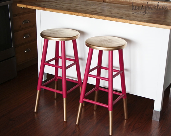 gold-dipped-kitchen-stools-sprayed