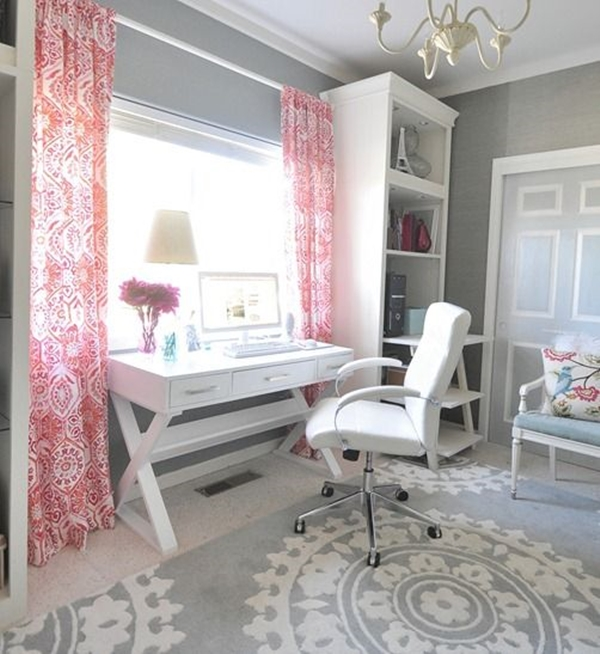 pink grey home decorating ideas (5)