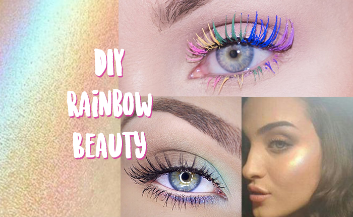 diy rainbow beauty