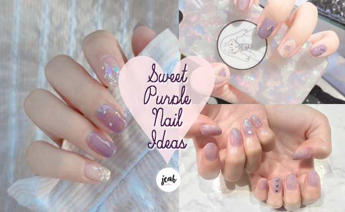 sweet purple nail idea