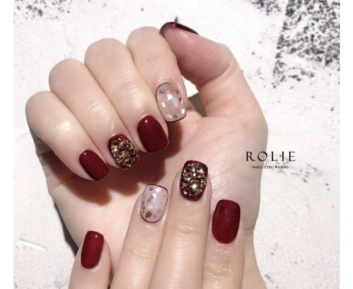 red lucky nail01