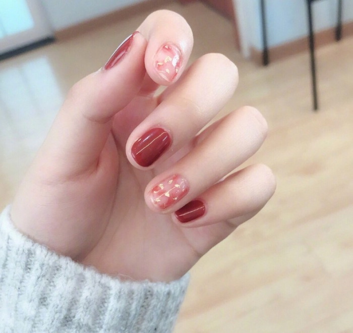 red tone nail for chinese new year (3)